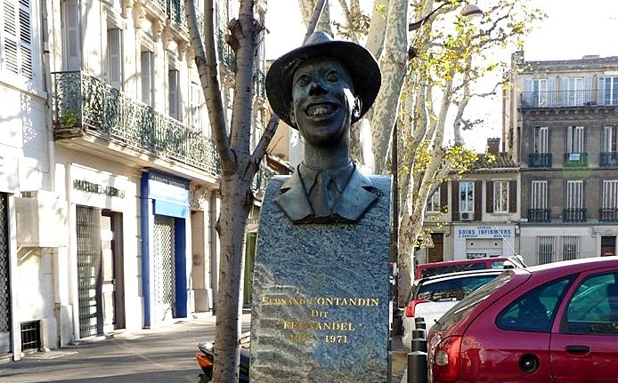Statue de Fernandel par Jacques Choquin